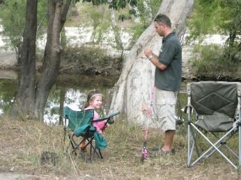 Emily fishing in Coen