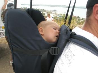Hiking is tiring